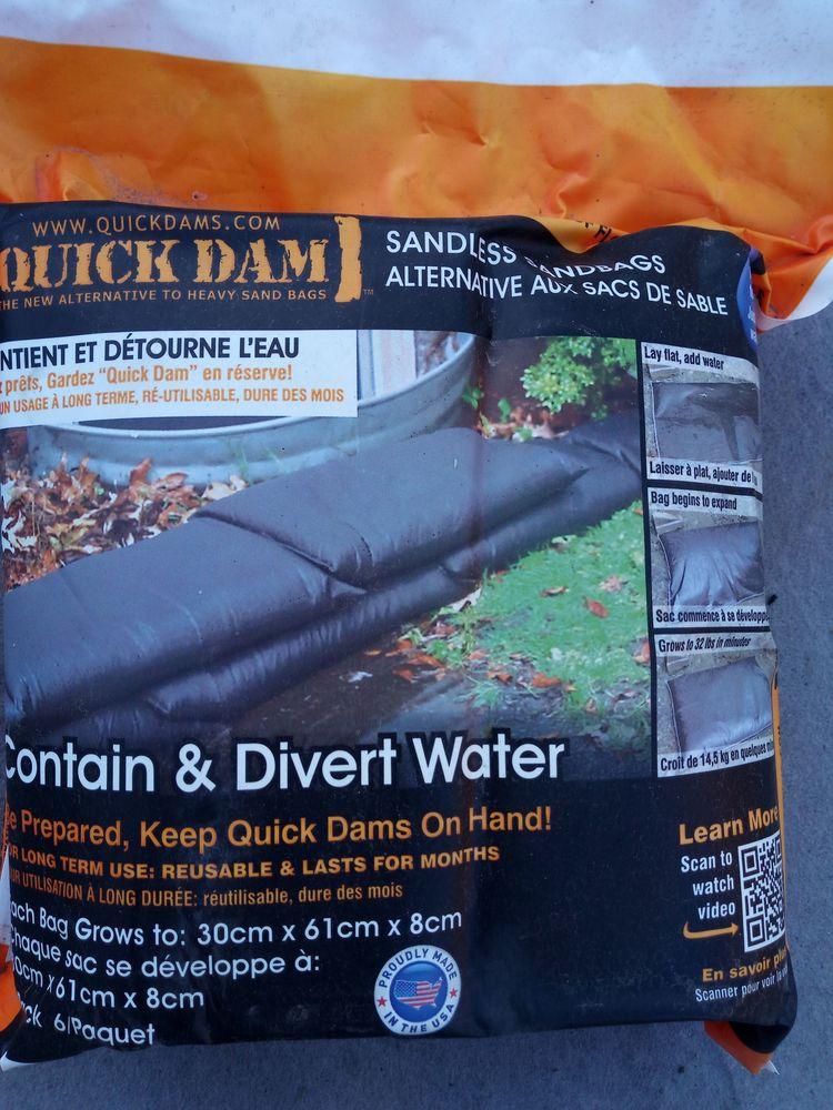 Sacs anti-inondation Bricolage