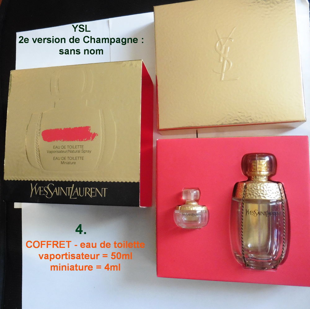 La saga YSL  Champagne -8 flacons-boîtes-coffrets 1 Perceneige (89)