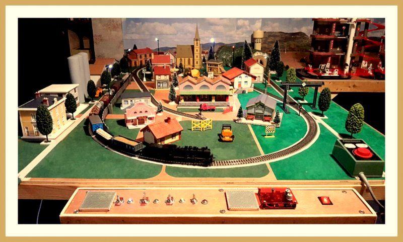 a saisir maquette d un réseau ferroviaire en HO 1000 Castelnau-Rivière-Basse (65)
