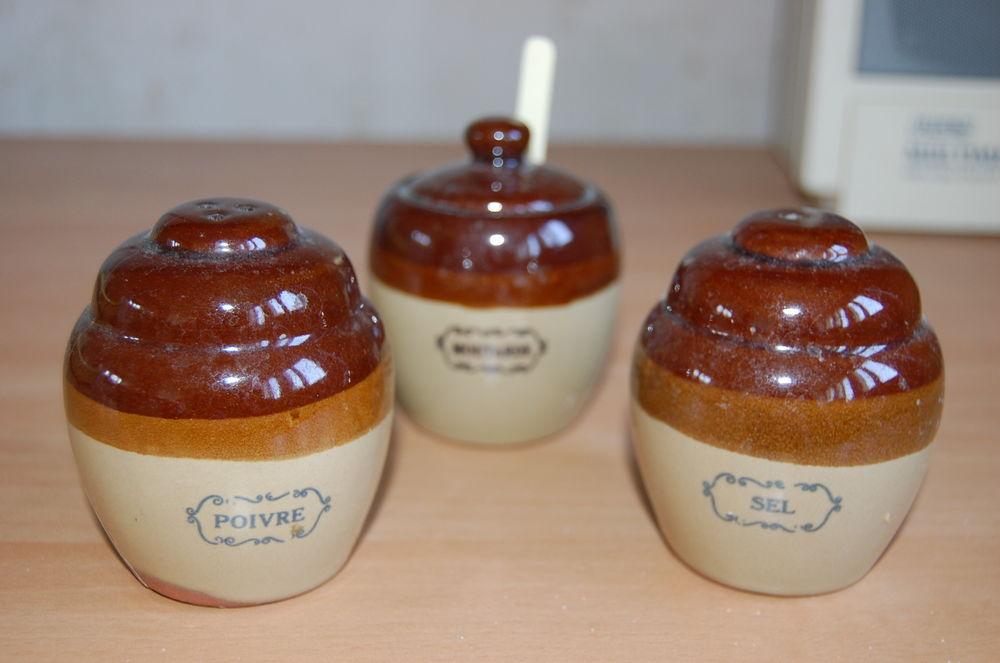 Salière, poivrière et moutardier style ancien 5 Wasquehal (59)