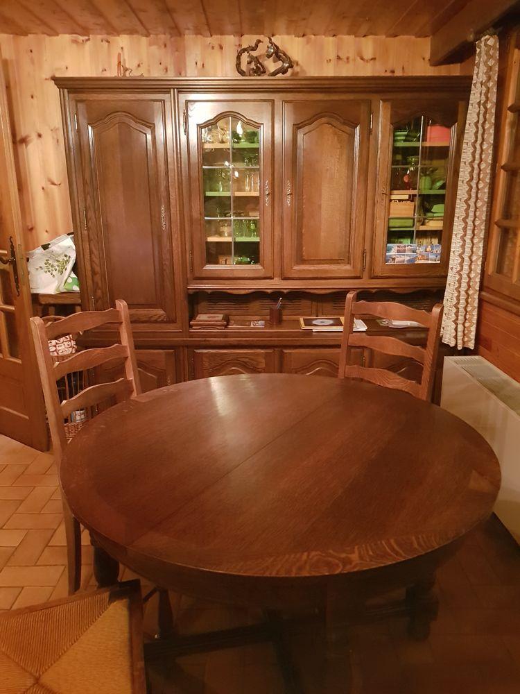 Salle à manger en bois chêne foncé : 175 Thônes (74)