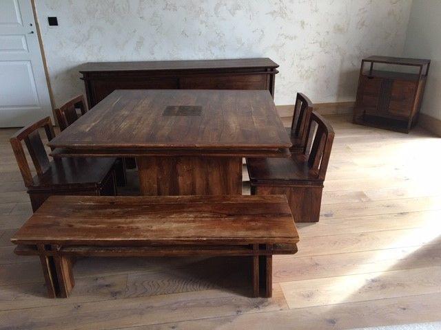 Salle à manger en bois de palissandre des Indes 1800 Les Molières (91)