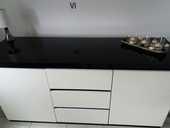salle à manger et le buffet en laqué noir et blanc 600 Roye (80)