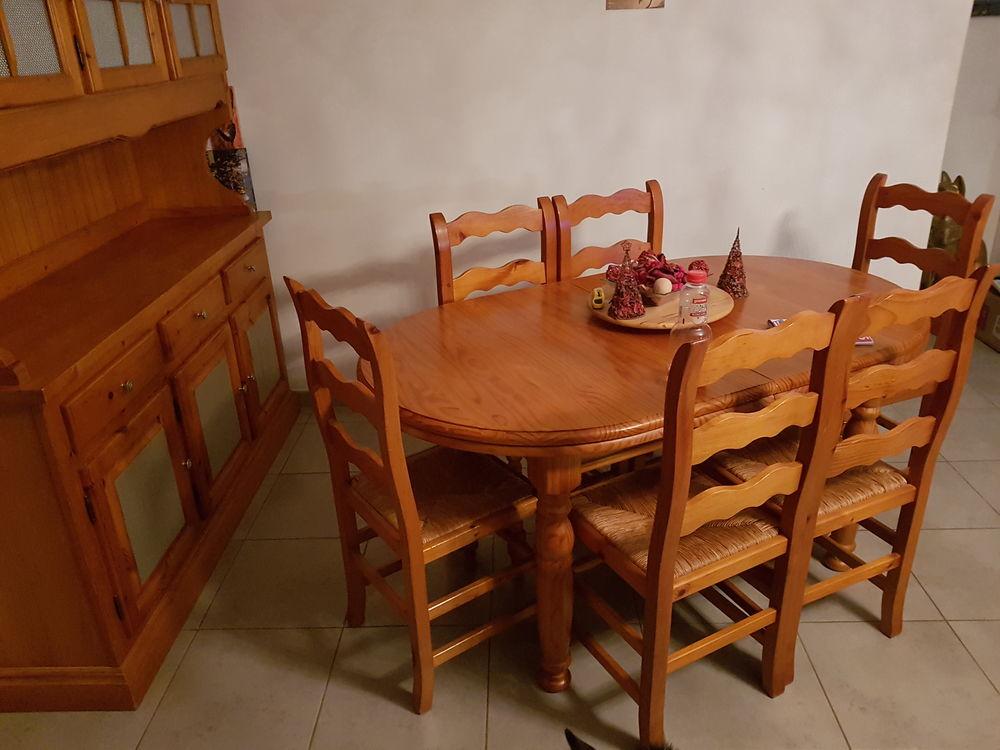 salle a manger complète en pin massif miel  450 Lavalette (11)