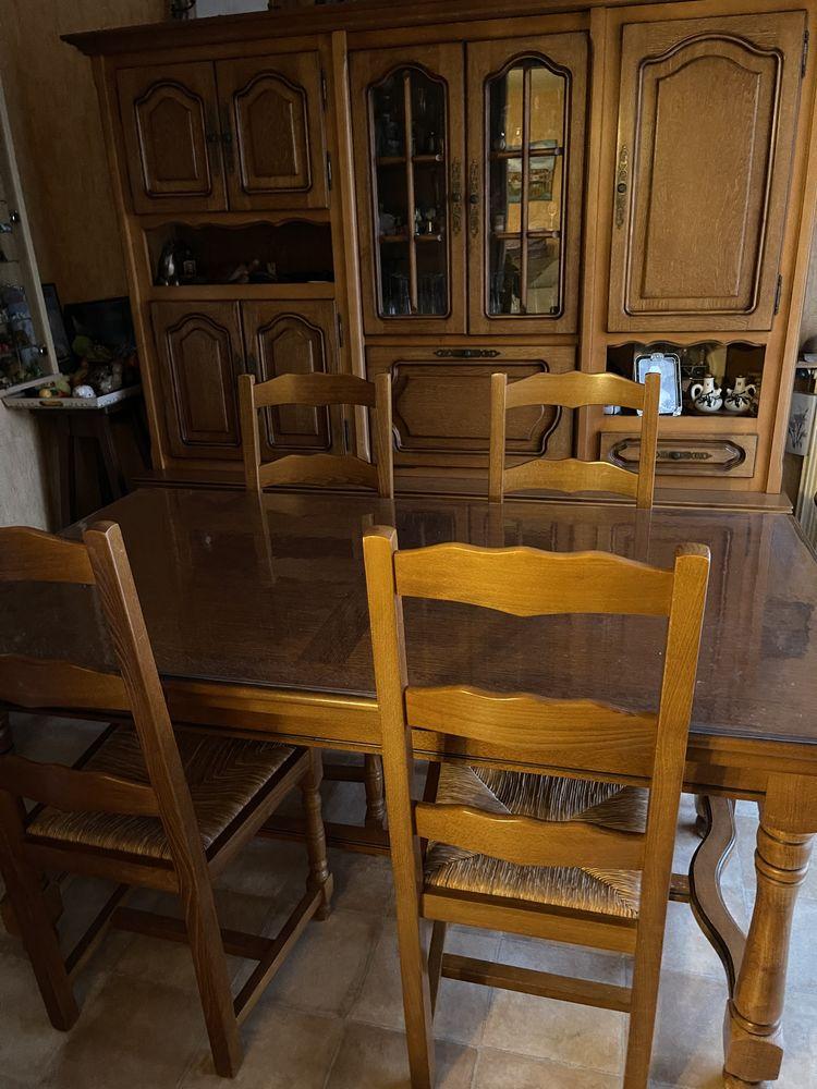 Salle à manger complète en chêne  380 La Ciotat (13)