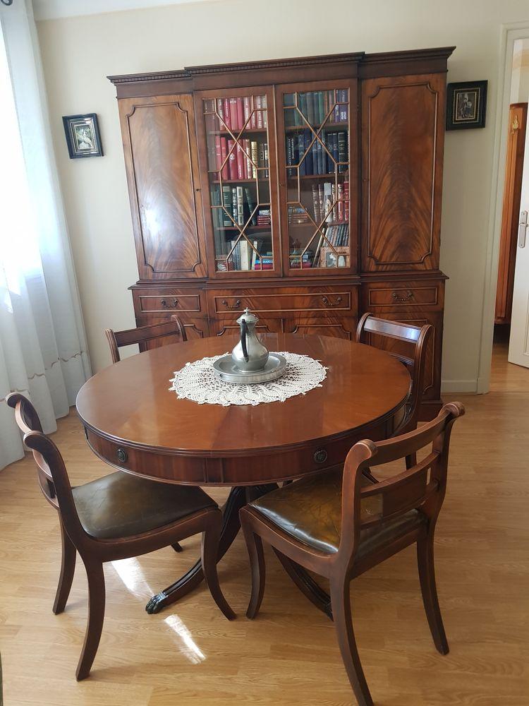 Salle à manger style  Anglais - Massif ronce Acajou  300 Aurillac (15)