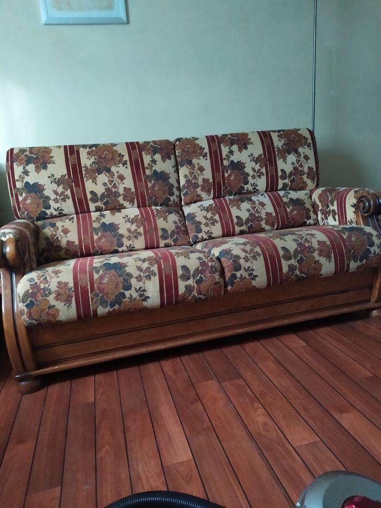 salon canapé 2coussins et 2fauteuils structure bois as 150 Noisy-le-Sec (93)