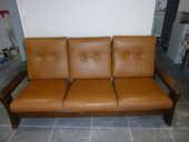 salon canape cuir et 2 grands fauteuils 250 Avignon (84)