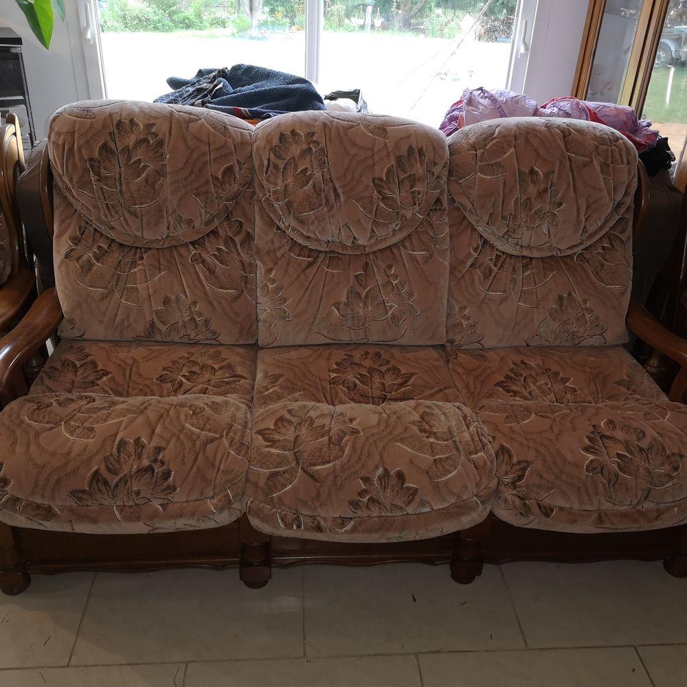 Salon canapé 3 places convertible avec les deux fauteuils 0 Nesles (62)