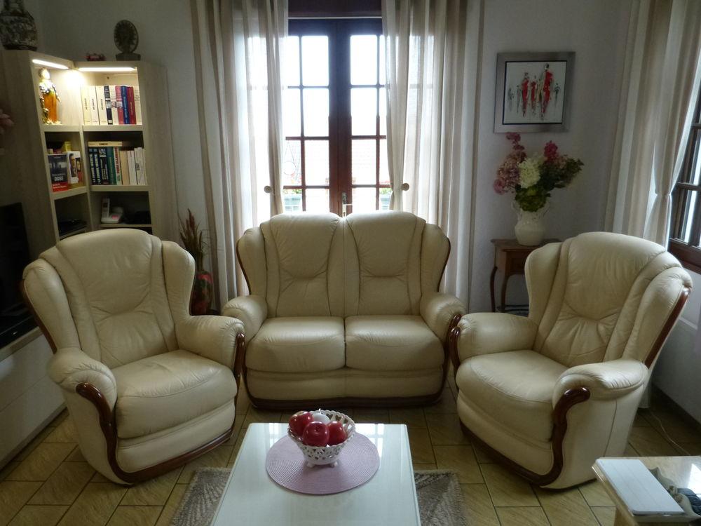 salon classique cuir et bois 0 Saint-Étienne-au-Mont (62)