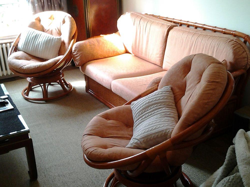 Salon complet avec canapé convertible 2 fauteuils 990 Neuilly-sur-Marne (93)