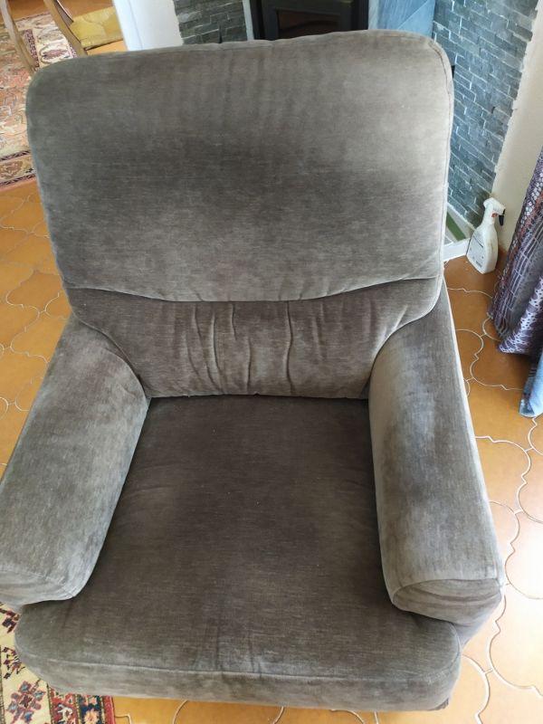 salon complet canapé plus 2 fauteuils velours marron 200 Six-Fours-les-Plages (83)