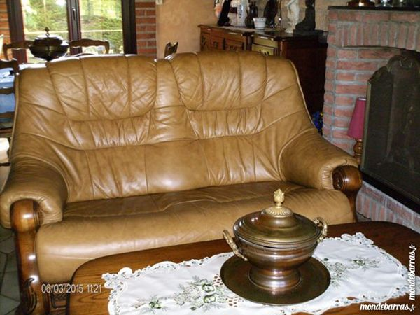 Salon complet en cuir 1500 Dunkerque (59)