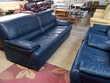 Salon cuir bleu 3 places + 2 fauteuils Toulouse (31)