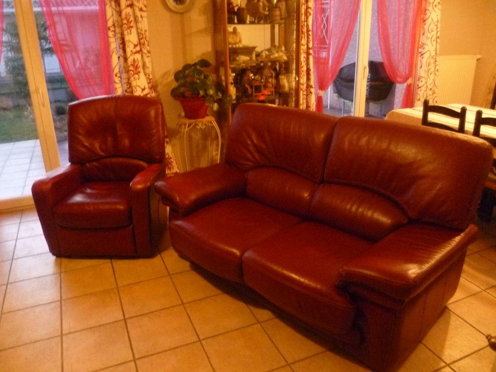 Achetez salon cuir bordeaux occasion annonce vente - Salon couleur bordeaux ...