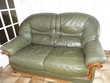 salon en cuir: canapé+fauteuil+pouf Meubles