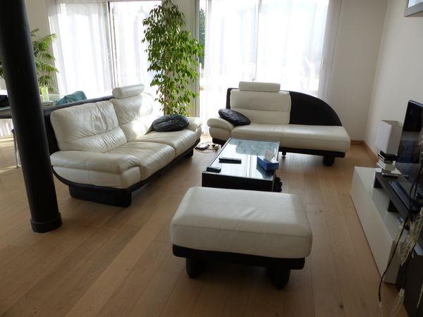 Achetez salon cuir chateau occasion annonce vente besan on 25 wb149445827 - Salon avec 2 canapes ...