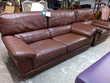 Salon cuir marron 3 places + 1 fauteuil