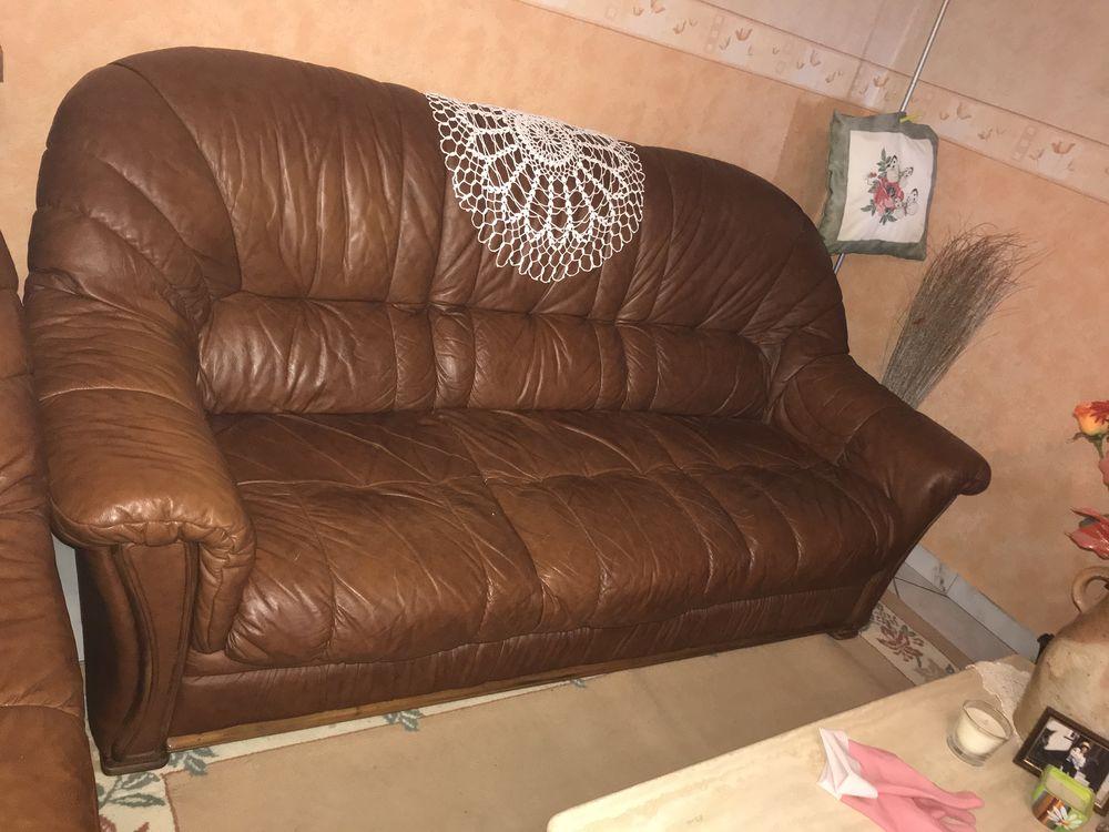 Salon en cuir marron 0 Saint-Priest-la-Roche (42)