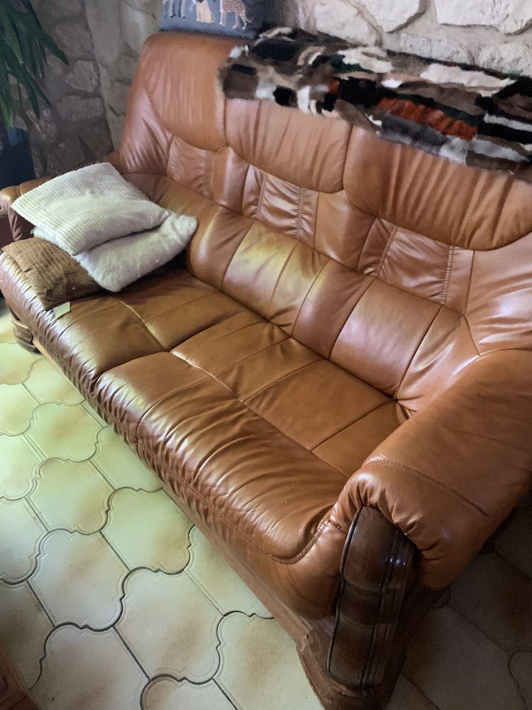 salon cuir marron 3 pièces 0 Brunoy (91)