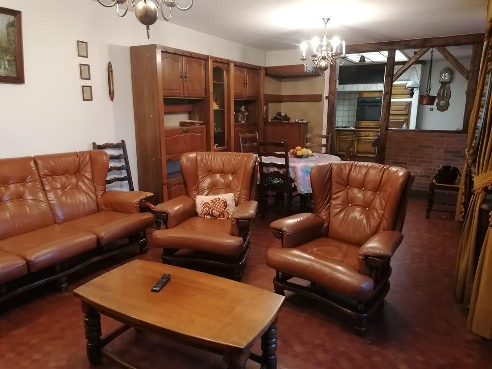 Salon cuir 5 places  comprenant + table salon 0 Wavrin (59)