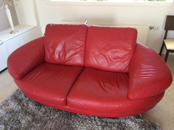 canap s cuir rouge occasion annonces achat et vente de canap s cuir rouge paruvendu. Black Bedroom Furniture Sets. Home Design Ideas