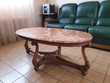 salon en cuir + table basse Meubles