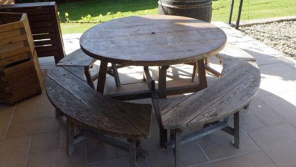 Achetez salon de jardin bois occasion, annonce vente à Louhans (71 ...