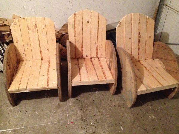 salon de jardin fauteuil en bois