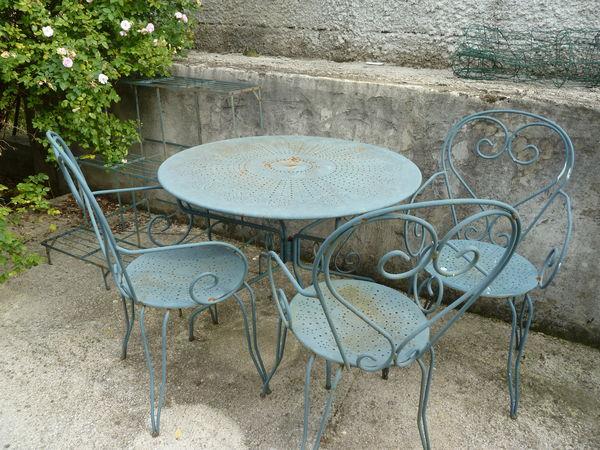 Achetez Salon De Jardin Fer Occasion Annonce Vente Bess Ges 30 Wb151257192