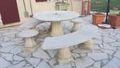 Salon de jardin en pierre Grandon Freres blanc 0 Champagne (28)