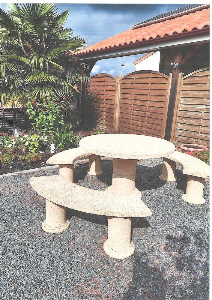 Salon de jardin en pierre 340 Vihiers (49)