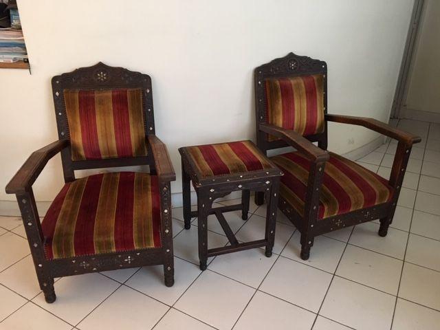 Salon marocain en bois incrusté 1000 Nice (06)