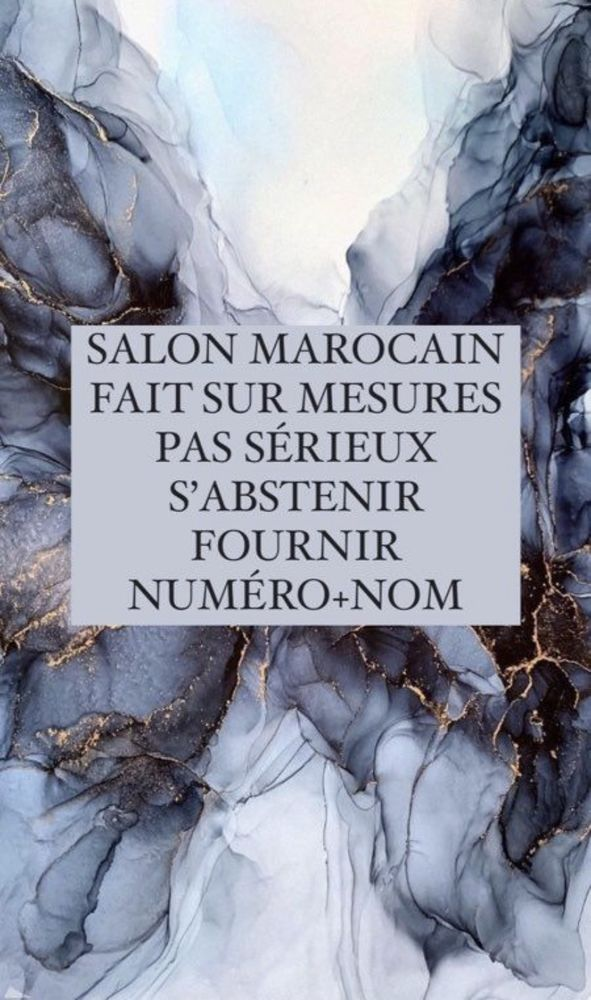 SALON MAROCAIN SUR MESURE  1 Montreuil (93)