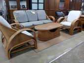 Salon rotin banquette table basse et 2 fauteuils 450 Toulouse (31)