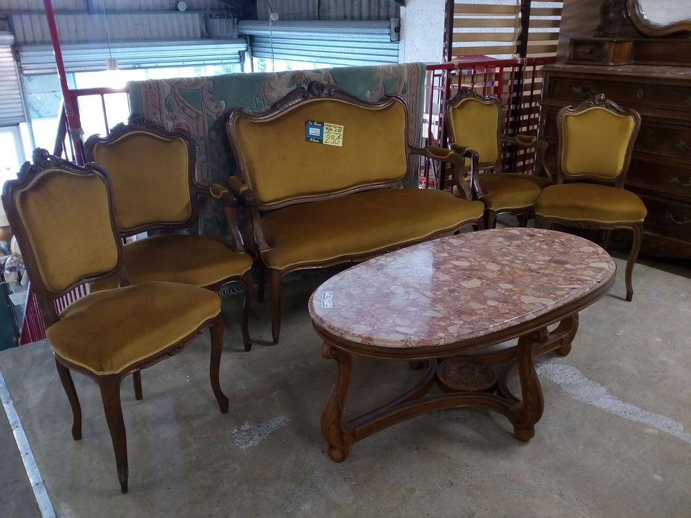 Salon style Louis XV banquette+2 fauteuils+2 chaises 290 Toulouse (31)