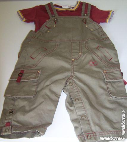 salopette bébéavec tee-shirt  T 6 mois/67 cm 0 Luisant (28)