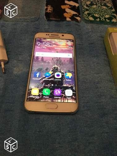 Samsung S6 Edge Blanc 32 gb Téléphones et tablettes