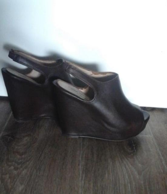 Sandale compensée cuir marron 50 Livry-Gargan (93)