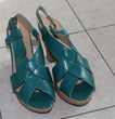 Sandale  plateforme  émeraude