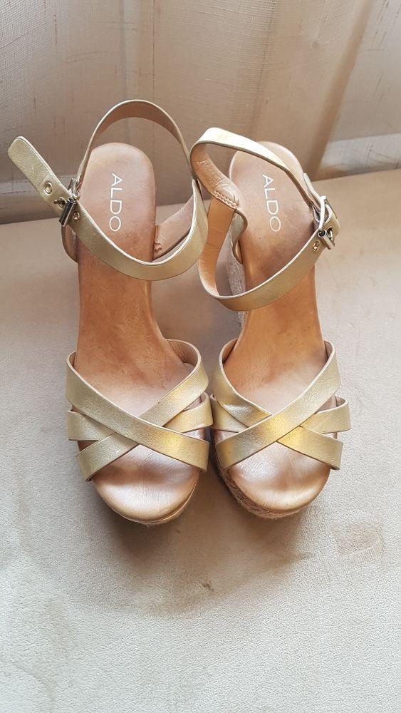 Sandales Aldo doré Chaussures