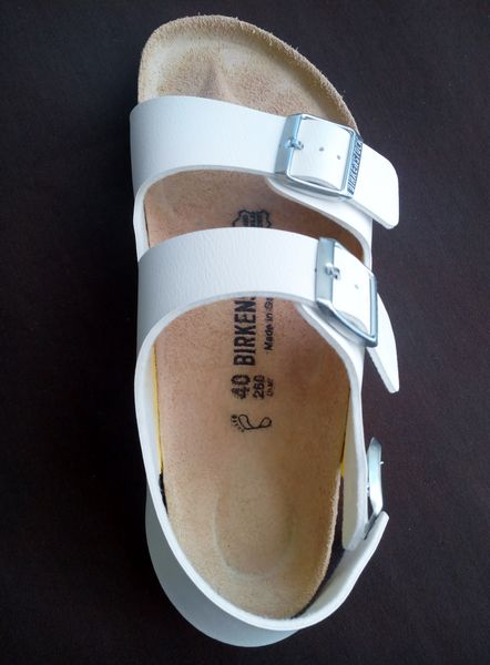 Sandales Birkenstock Milano blanches H-F 45 Cannes (06)