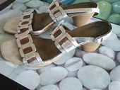 Sandales cuir grises Moria TBE 16 Nanterre (92)