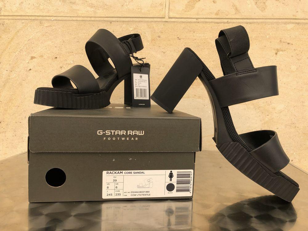Sandales Cuir Rackam Core noirs ? G-STAR RAW 119 Fontenay-sous-Bois (94)