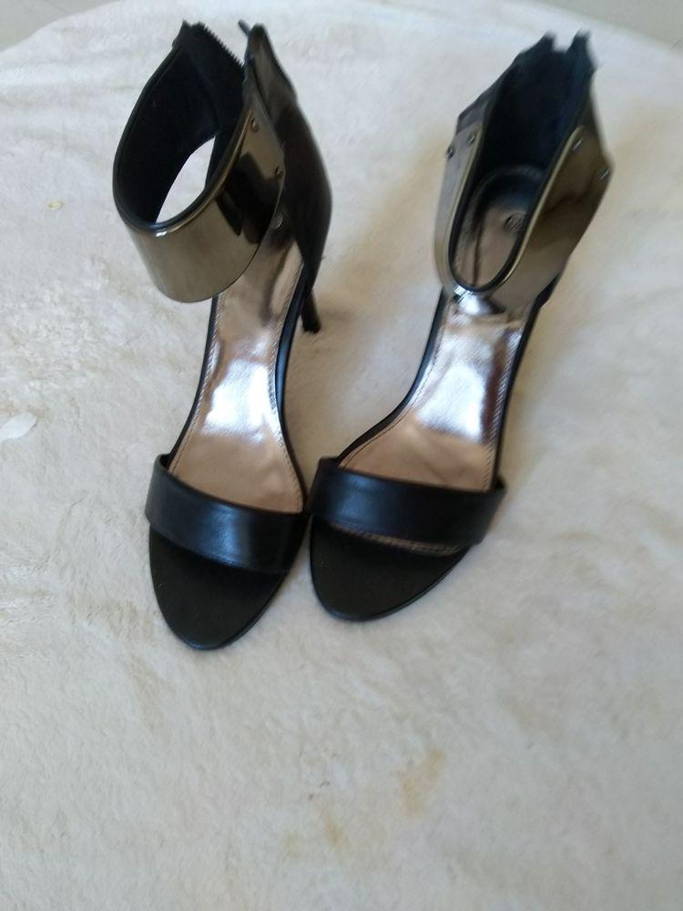 Sandales noir argentées neuves taille 39 25 Aix-en-Provence (13)
