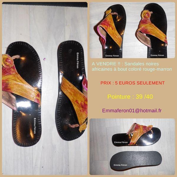 Sandales noires africaines mixtes 5€ 5 Antony (92)