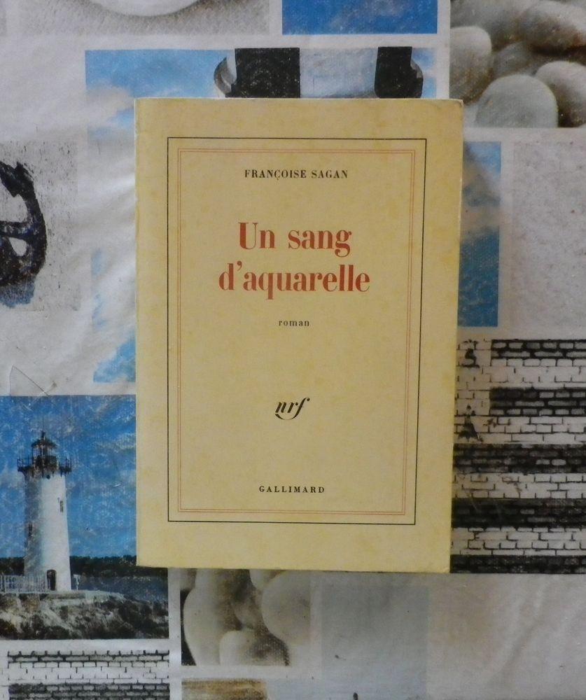 UN SANG D'AQUARELLE de Françoise SAGAN Ed.Gallimard 4 Bubry (56)