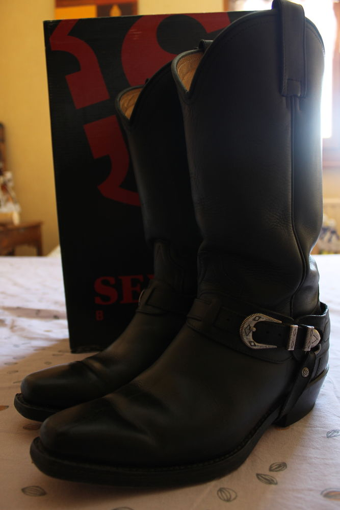 santiags noires cuir femme taille 41 70 Proville (59)
