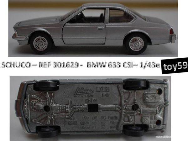 SCHUCO - BMW 633 CSI - 1/43e - Jeux / jouets