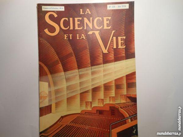 science et vie N°228 de juin 1936 Livres et BD